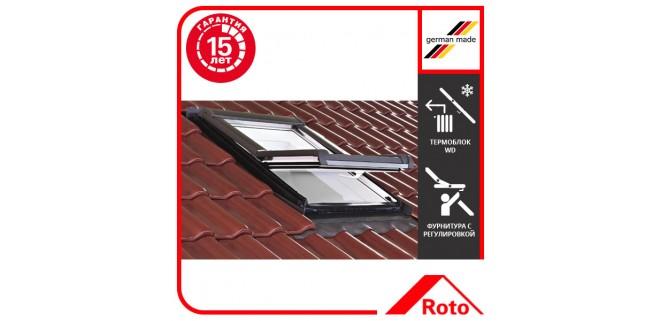Окно мансардное Roto Designo WDF R45 K W WD AL 07/11 (74x118 см) пластик